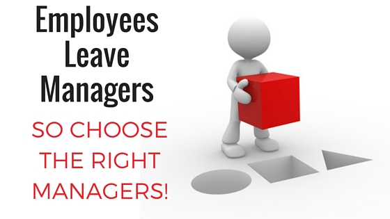 employees leave managers